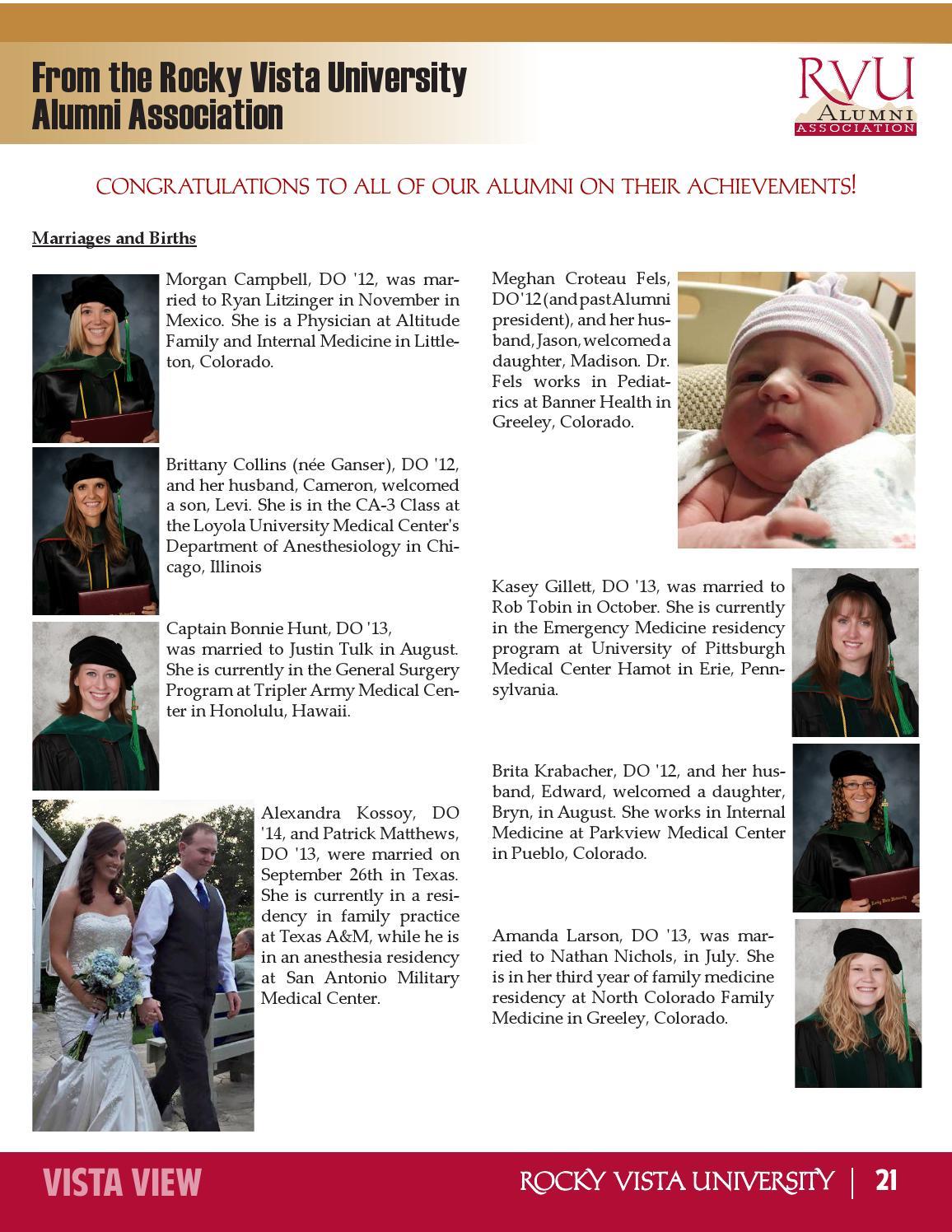 December Issue - Vista View - Rocky Vista University by