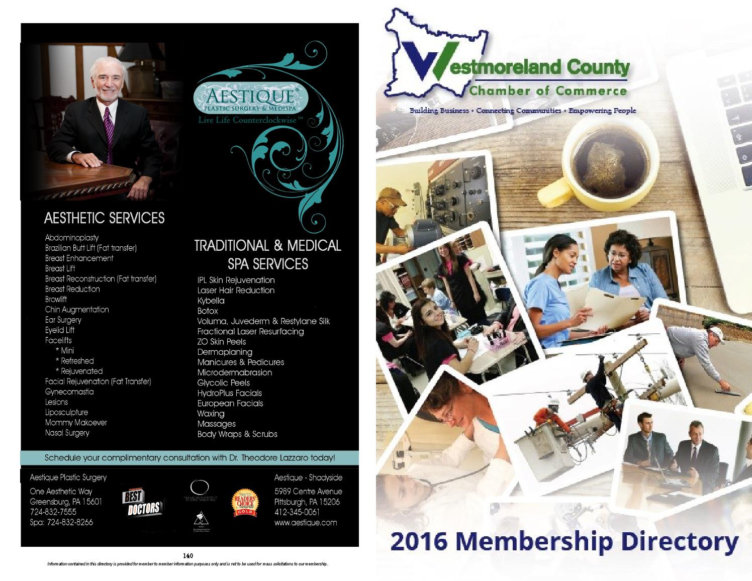 Membership Directory 2016 By Westmoreland County Chamber Of Commerce Issuu