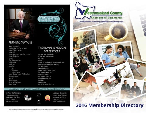 Membership directory 2016 by Westmoreland County Chamber of