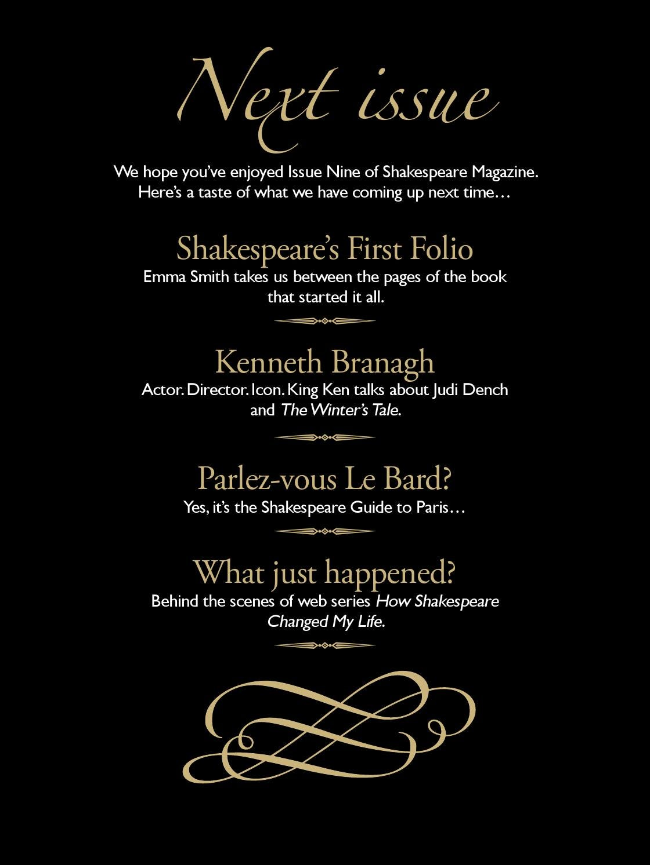 Shakespeare magazine 09 by Shakespeare Magazine - issuu