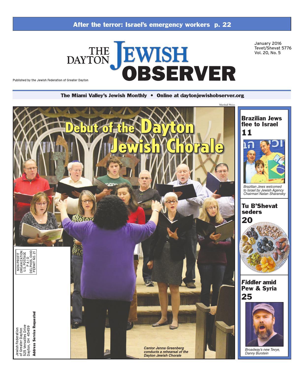 The Dayton Jewish Observer, January 2016 By The Dayton Jewish Observer   Issuu