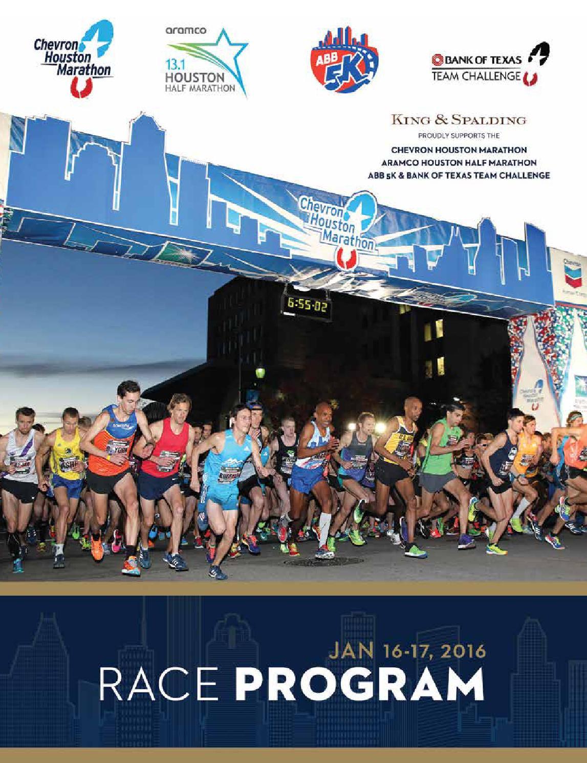 2016 Houston Marathon Program by Kelli L issuu