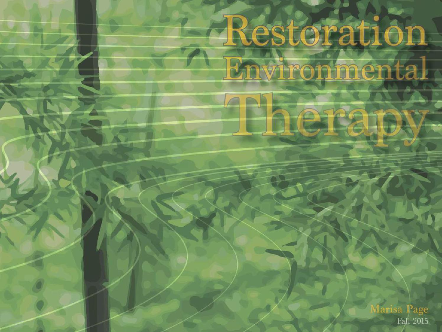 ecological restoration thesis Land use / land cover changes and ecological health indicators in the blackbird creek watershed: with recommendations for restoration by.