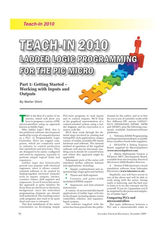 Teach-In : Ladder Logic for PIC Micro by Lee Yuan - issuu