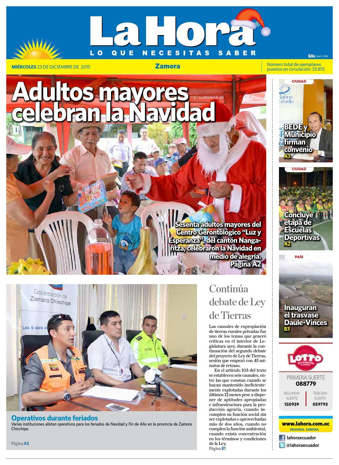 Diario La Hora Zamora 23 de Diciembre 2015 by Diario La Hora ...