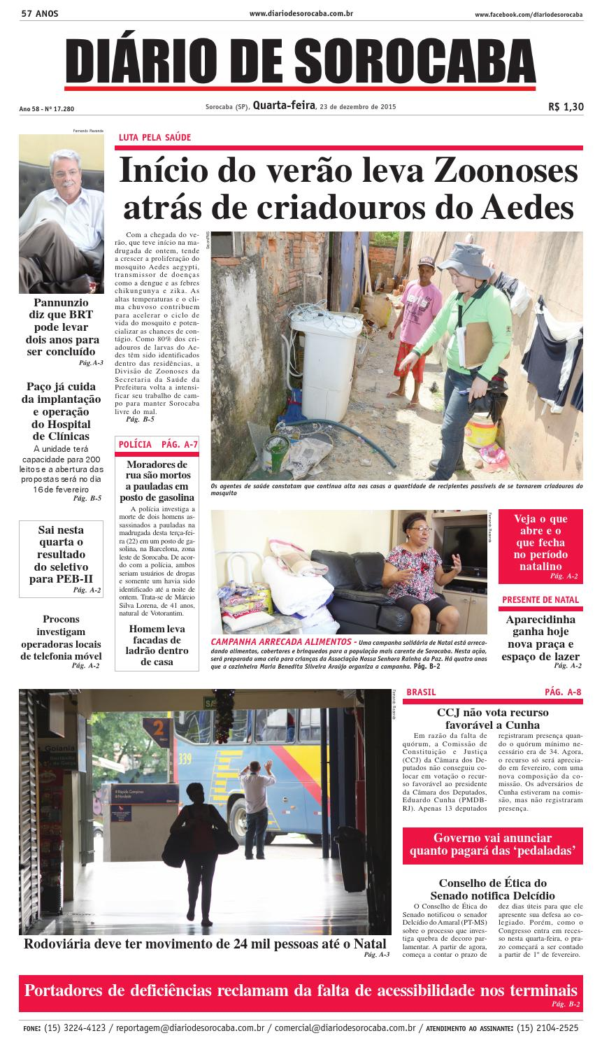 Edição de 23 de dezembro de 2015 by DIÁRIO DE SOROCABA - issuu 893bf13eef