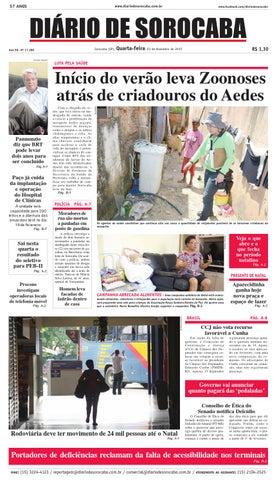 Edição de 23 de dezembro de 2015 by DIÁRIO DE SOROCABA - issuu 54202be6fd547
