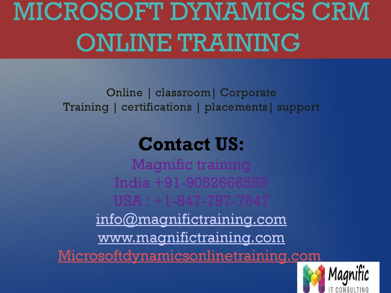 Microsoft Dynamics Crm Online Training In Dubai By Magnificnag7 Issuu