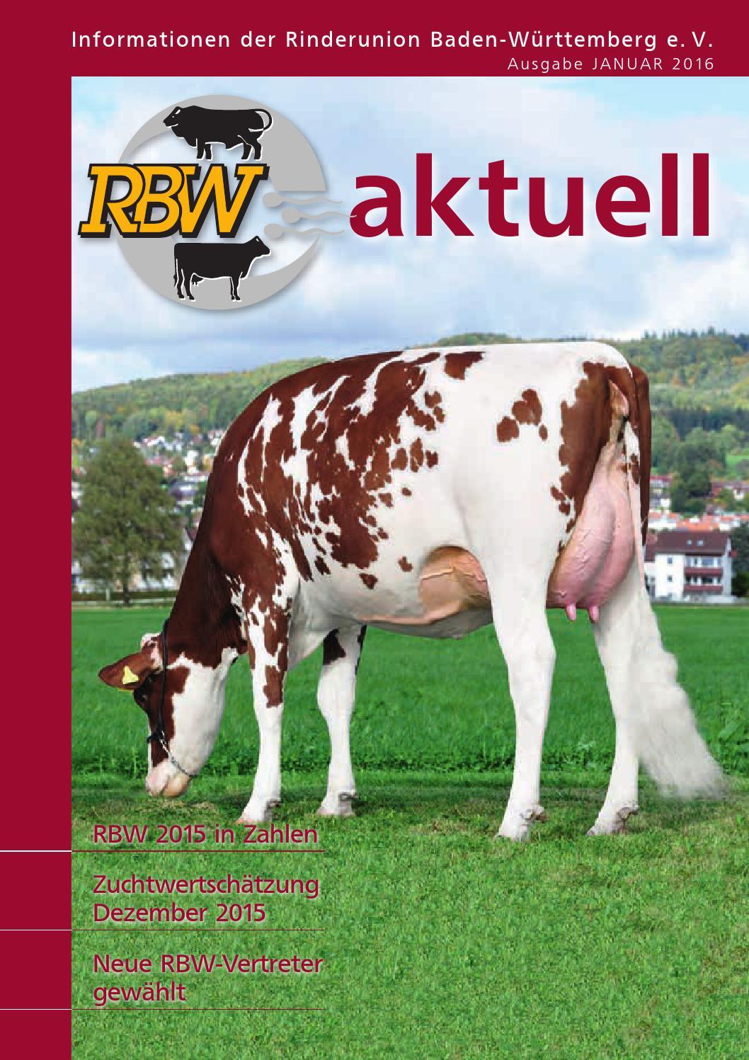 Rbw Aktuell Ausgabe Januar 2016 By Rinderunion Baden