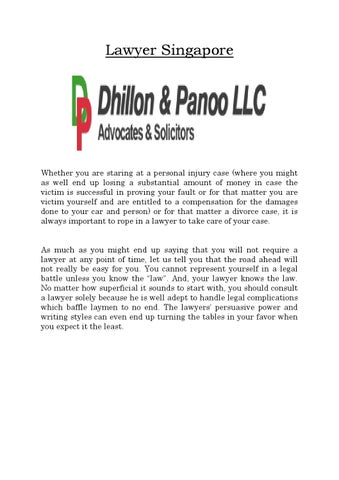 Best lawyer singapore dhillon panoo llc by dhillon panoo llc page 1 lawyer singapore solutioingenieria Image collections