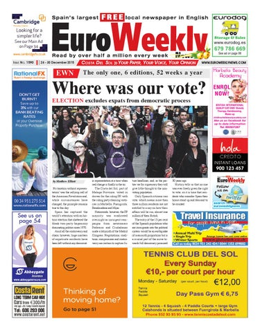 info for 81072 d445c Euro Weekly News - Costa del Sol 24 - 30 December 2015 Issue 1590 by ...