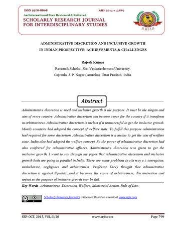 administrative discretion in india pdf