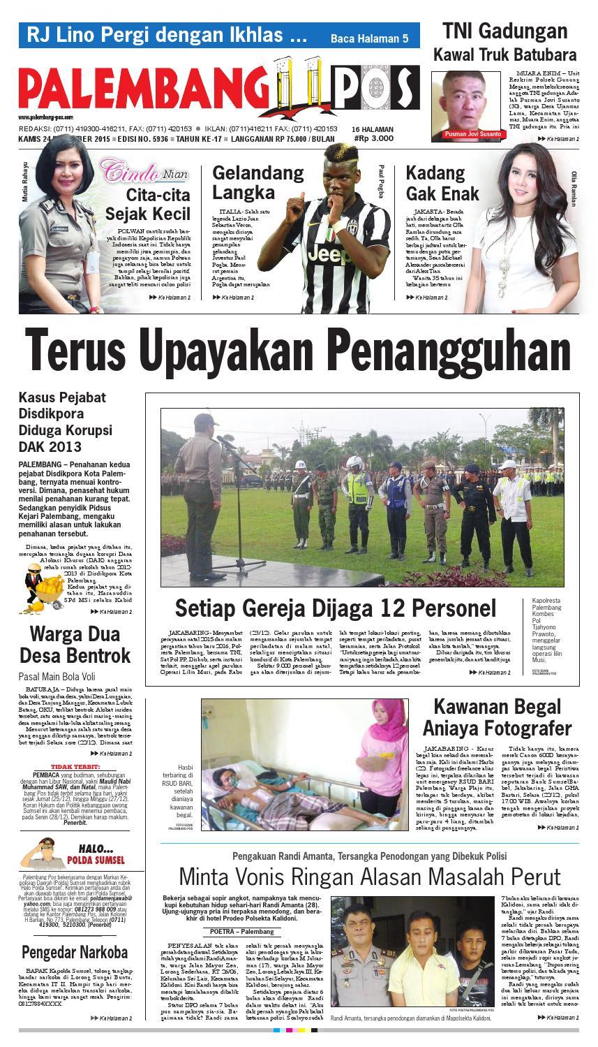 PALEMBANG POS EDISI KAMIS 24 DESEMBER 2015 by Palembang Pos - issuu 1725cb370e