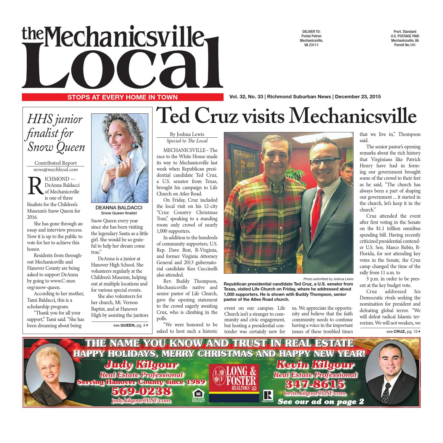 12/23/2015 by The Mechanicsville Local - issuu
