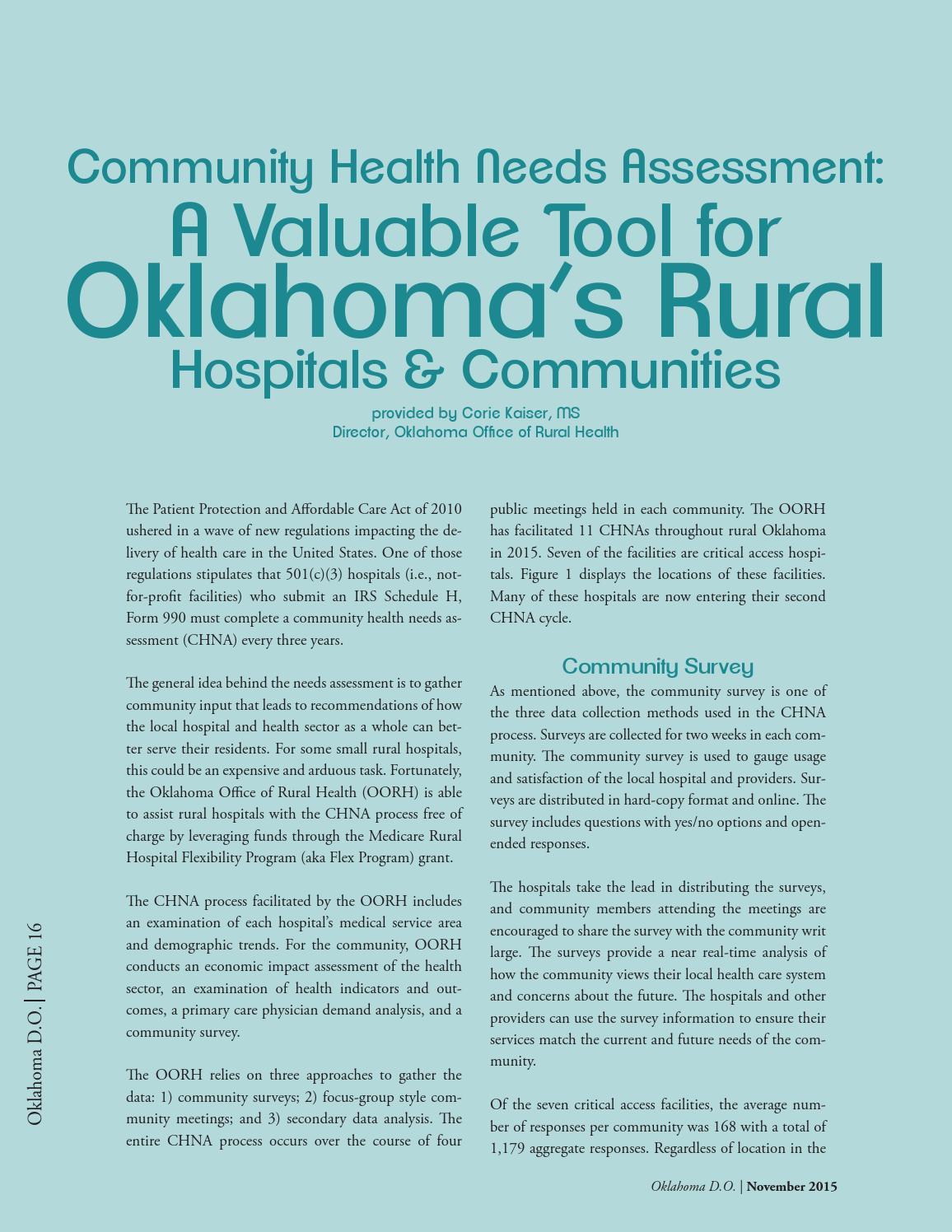 Oklahoma DO November 2015 by Oklahoma Osteopathic