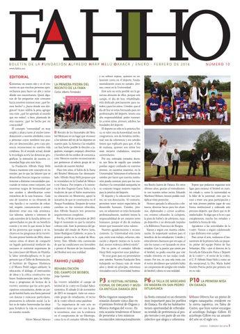 80c1266f432fd Boletín FAHHO ene - feb 2016 by Fundación Alfredo Harp Helú Oaxaca ...