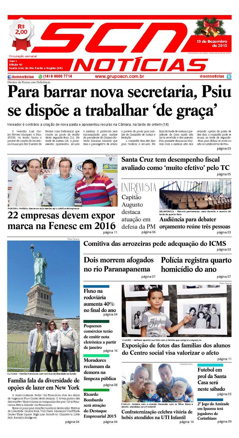 1eb2188aa9 SCN NOTÍCIAS - 19 12 2015 by SCN NOTÍCIAS - issuu