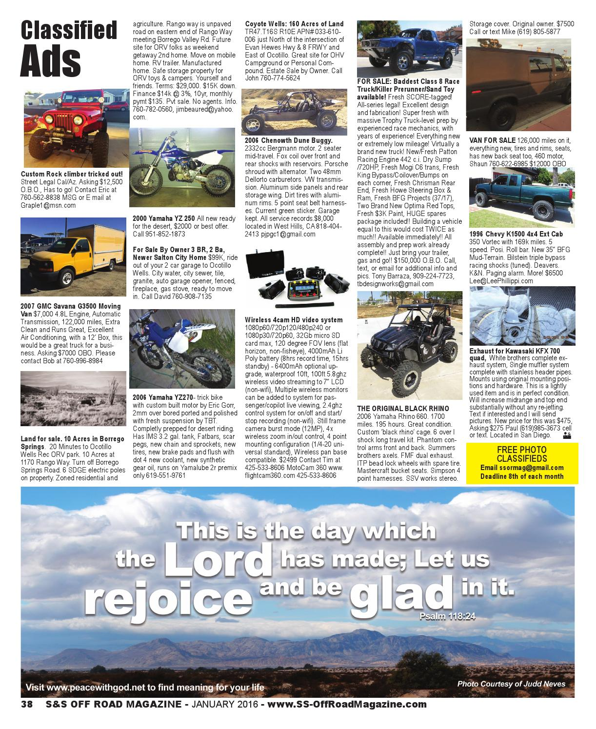 S&S Off Road Magazine January 2016 by S&S Off Road Magazine