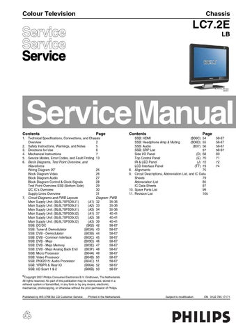 philips lc320w01 manual