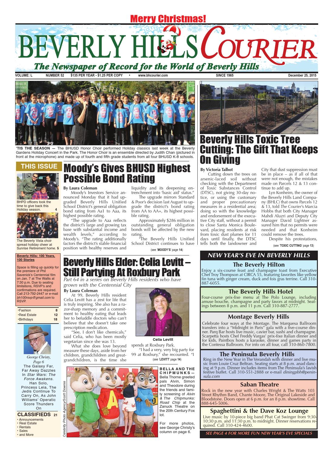 bf670821f08a6 BHCourier E-edition 122515 by The Beverly Hills Courier - issuu