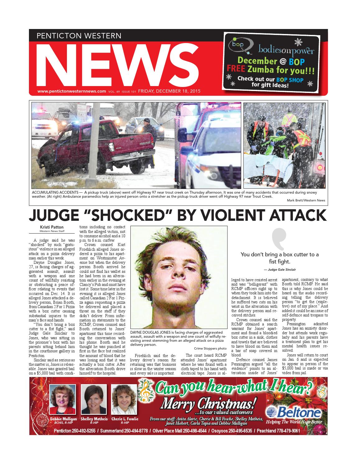 245a78e7998f6 Penticton Western News, December 18, 2015 by Black Press Media Group ...