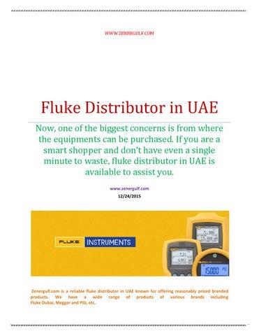 Fluke distributor in uae by zenergulf - issuu