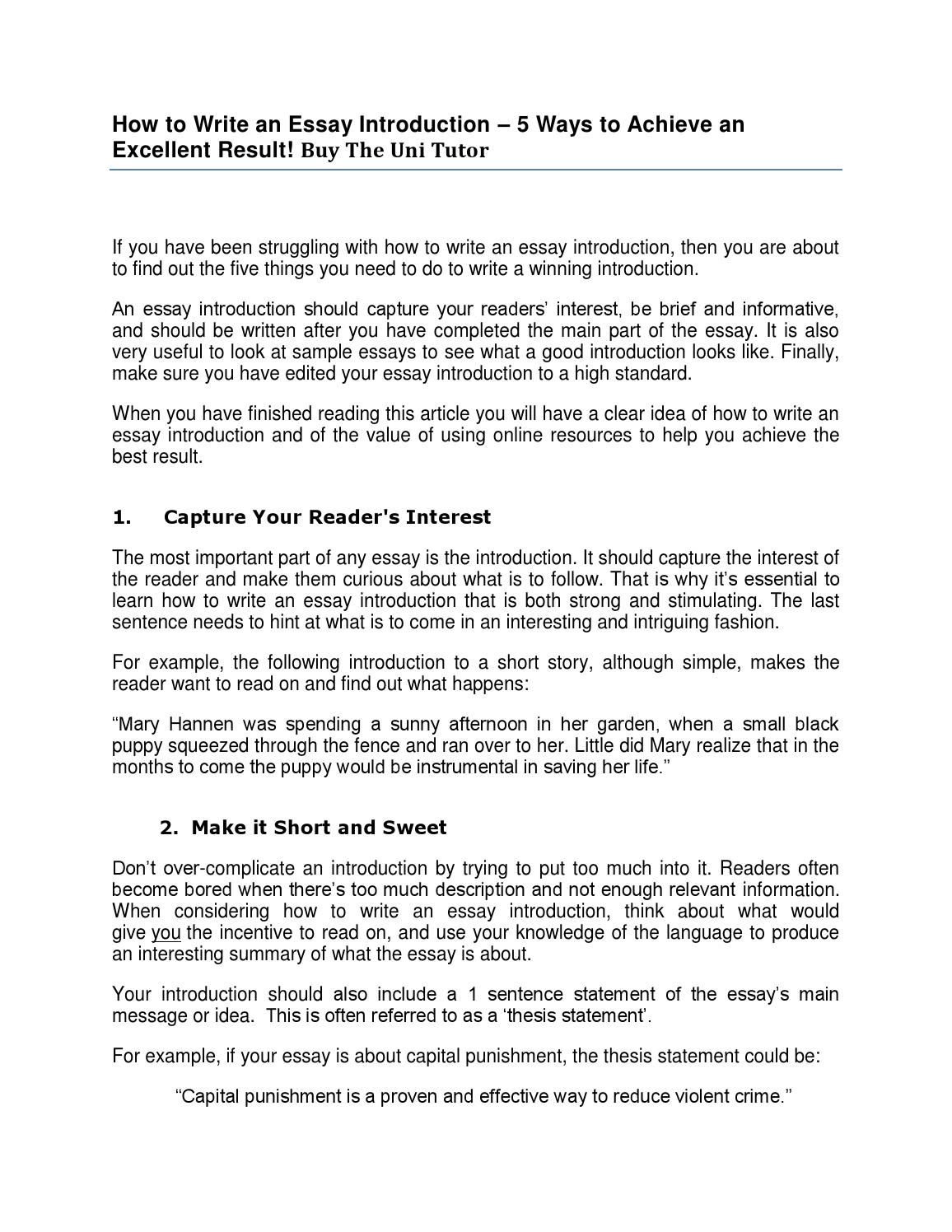 how to write an essay introduction by the uni tutor by vishal  how to write an essay introduction by the uni tutor by vishal kumar issuu
