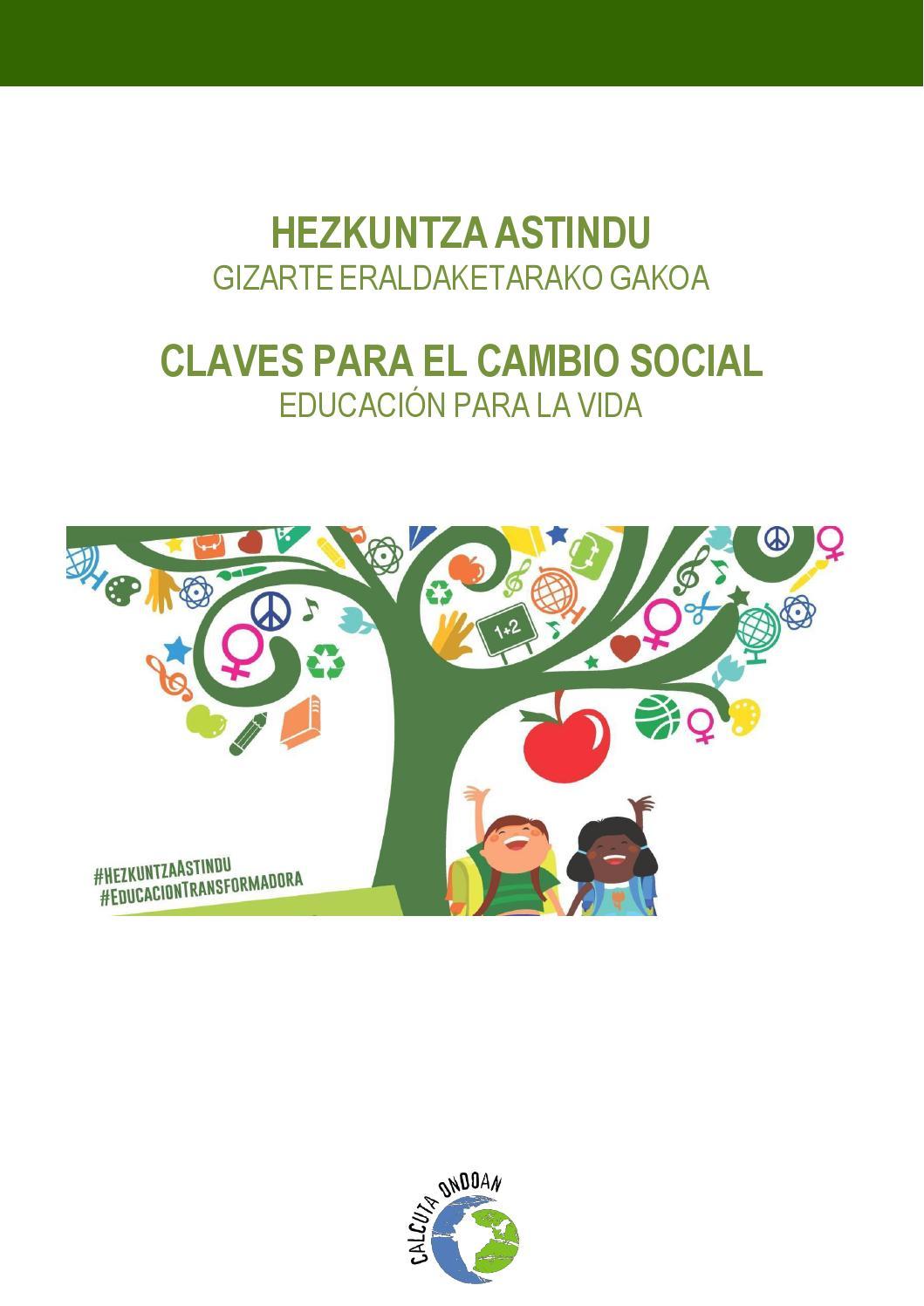Claves Para El Cambio Social Educación Para La Vida By