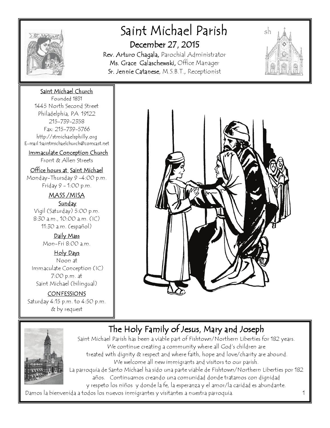 Bulletin For 12 27 15 By St Mike S Immaculate Conception