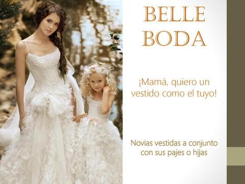 A Belle Hijas Conjunto Boda By Vestidas Sus Con Novias 08XOkPnw