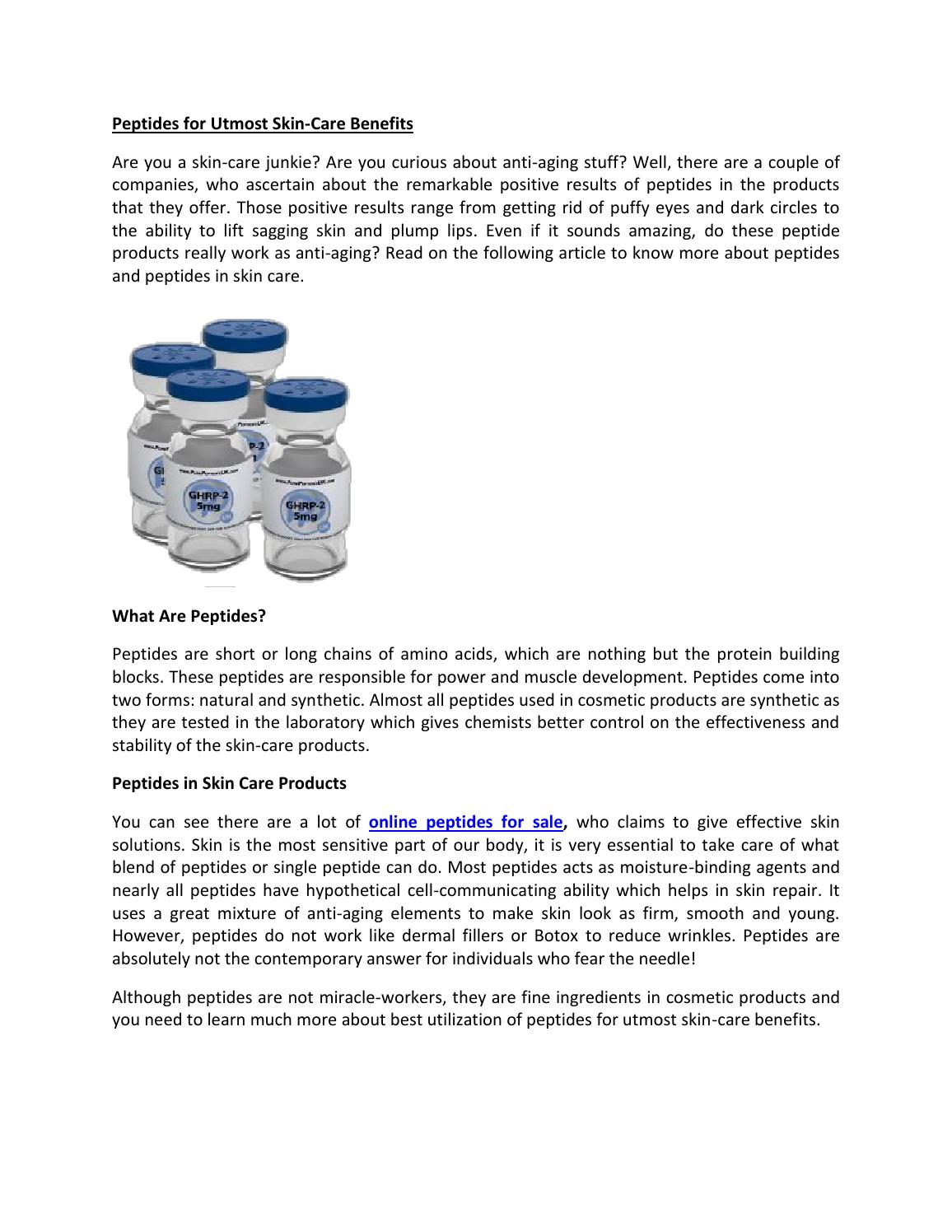 What are peptides