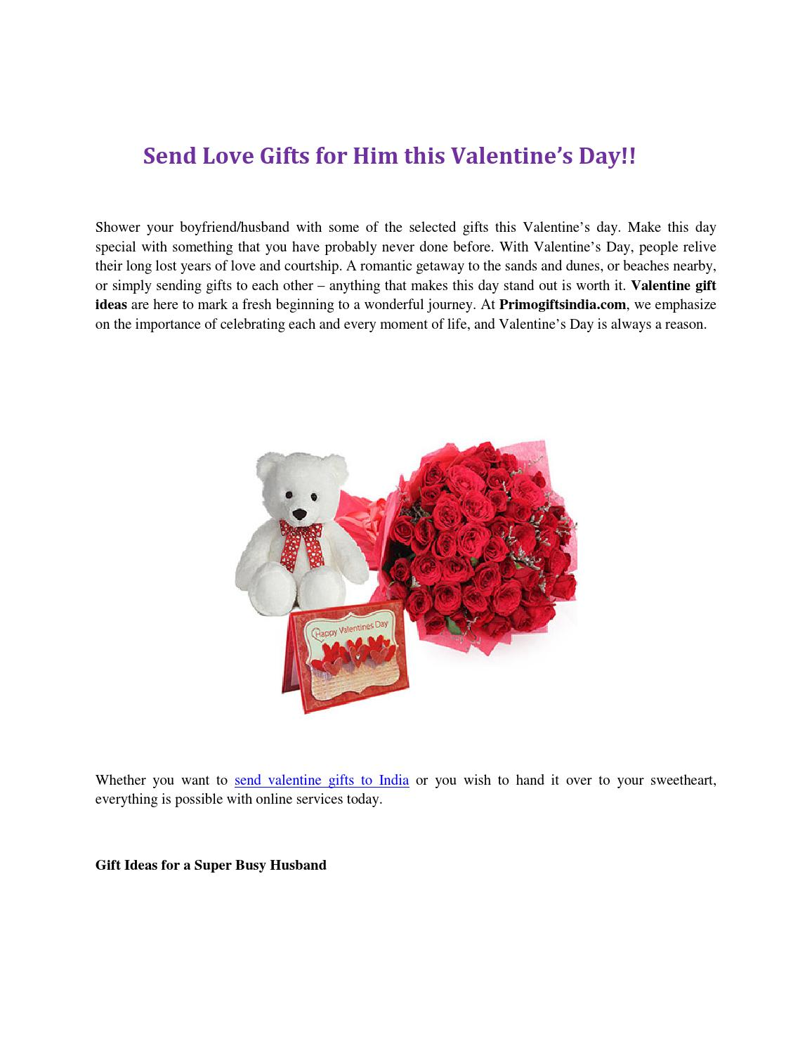Send Love Gifts For Him This Valentine S Day By Primo Gifts India Issuu