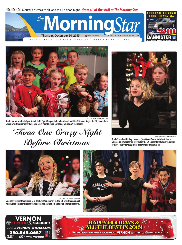 Vernon Morning Star, December 25, 2015 by Black Press - issuu