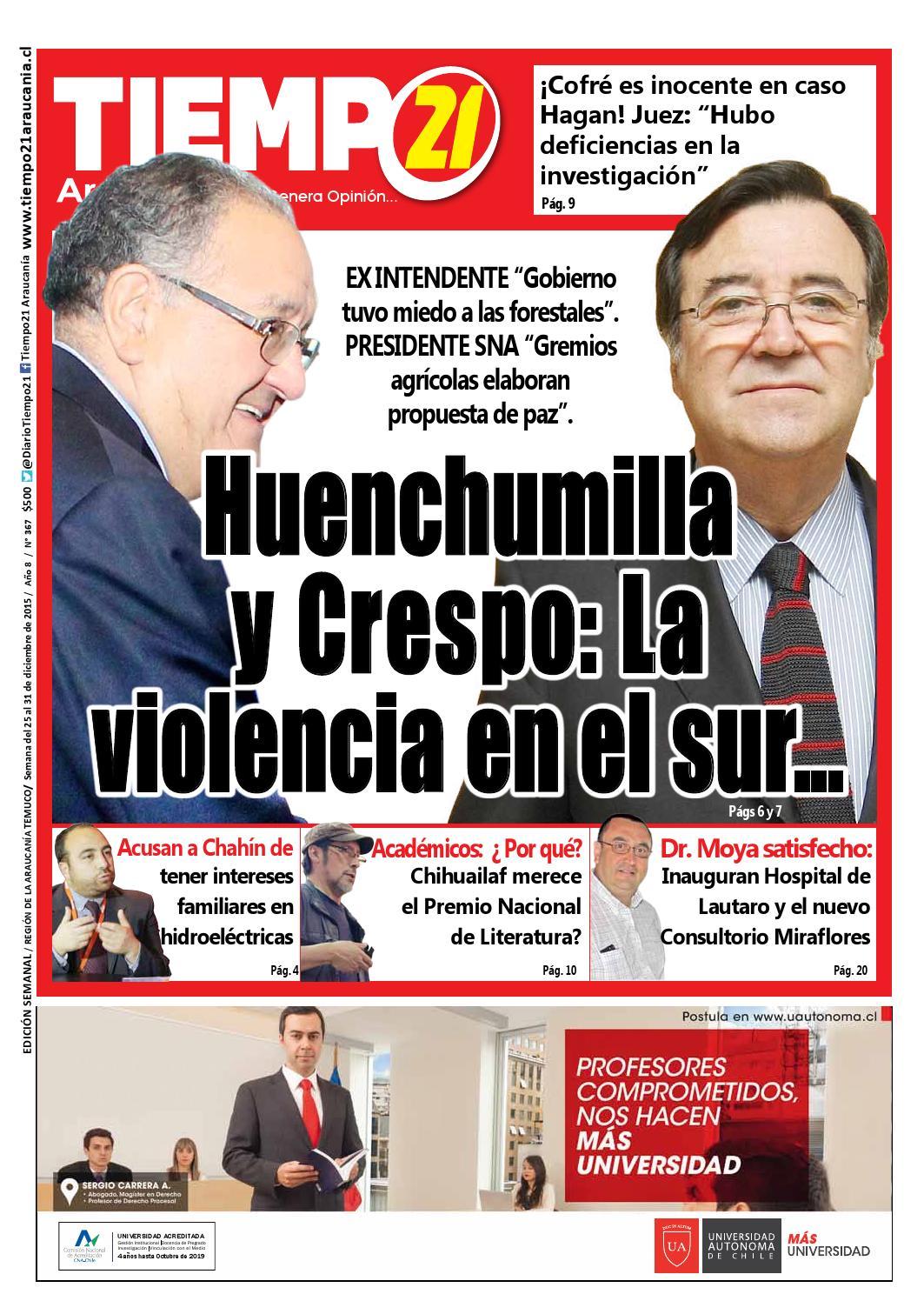 Edici N 367 Huenchumilla Y Crespo La Violencia En El Sur By  # Muebles Jouannet Ltda