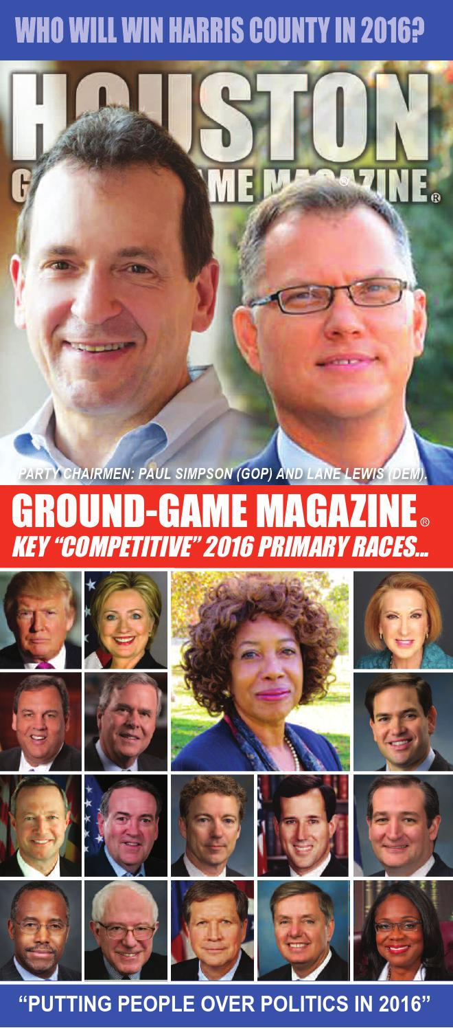 District judge 174th judicial district - Ground Game Magazine Volume 1 No 13 Who Will Win Harris County In 2016 By Aubrey R Taylor Communications Issuu