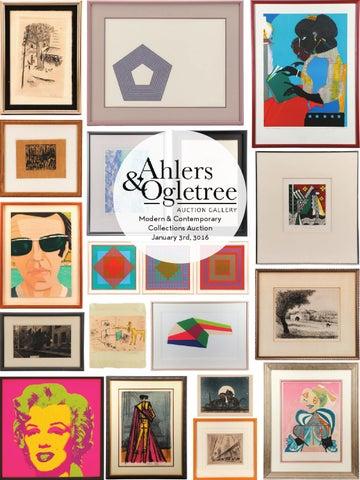 ahlers u0026 ogletree modern u0026 collections january 3 auction catalog