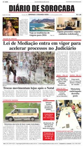 Edição de 27 de dezembro de 2015 by DIÁRIO DE SOROCABA - issuu da5c83efa67d2