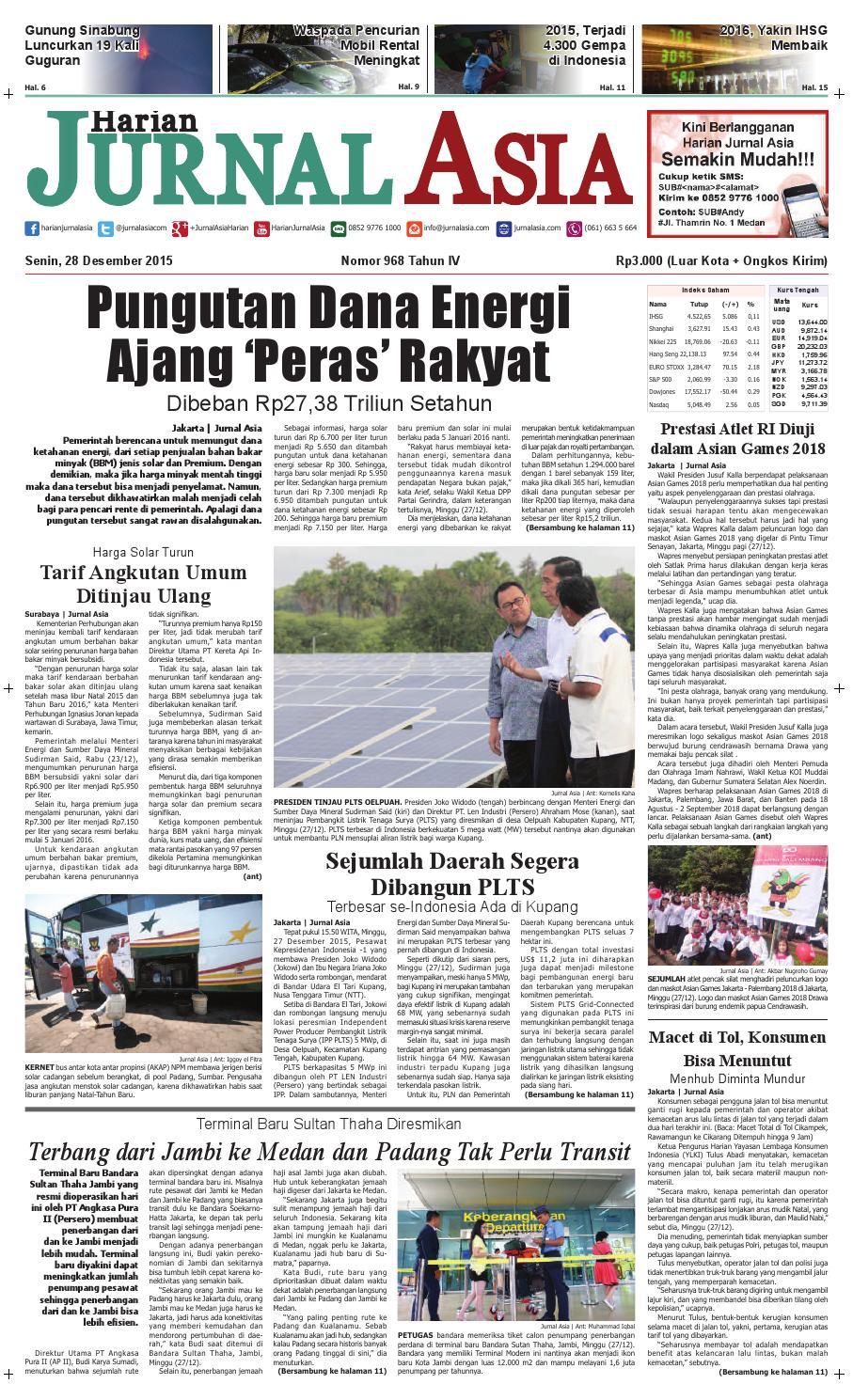 Harian Jurnal Asia Edisi Senin 28 Desember 2015 By Parcel Makanan Ampamp Kristal Pja 1609 Medan Issuu