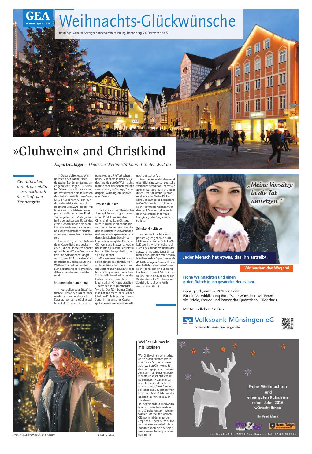 Reutlinger General-Anzeiger (Weihnachtsausgabe 2015) by GEA Publishing und  Media Services GmbH   Co. KG - issuu 037e36e928