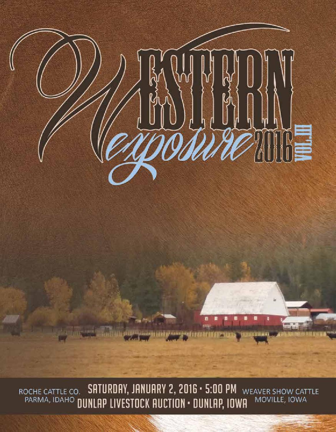 2016 Western Exposure Sale, Vol  III by LivestockDirect - issuu