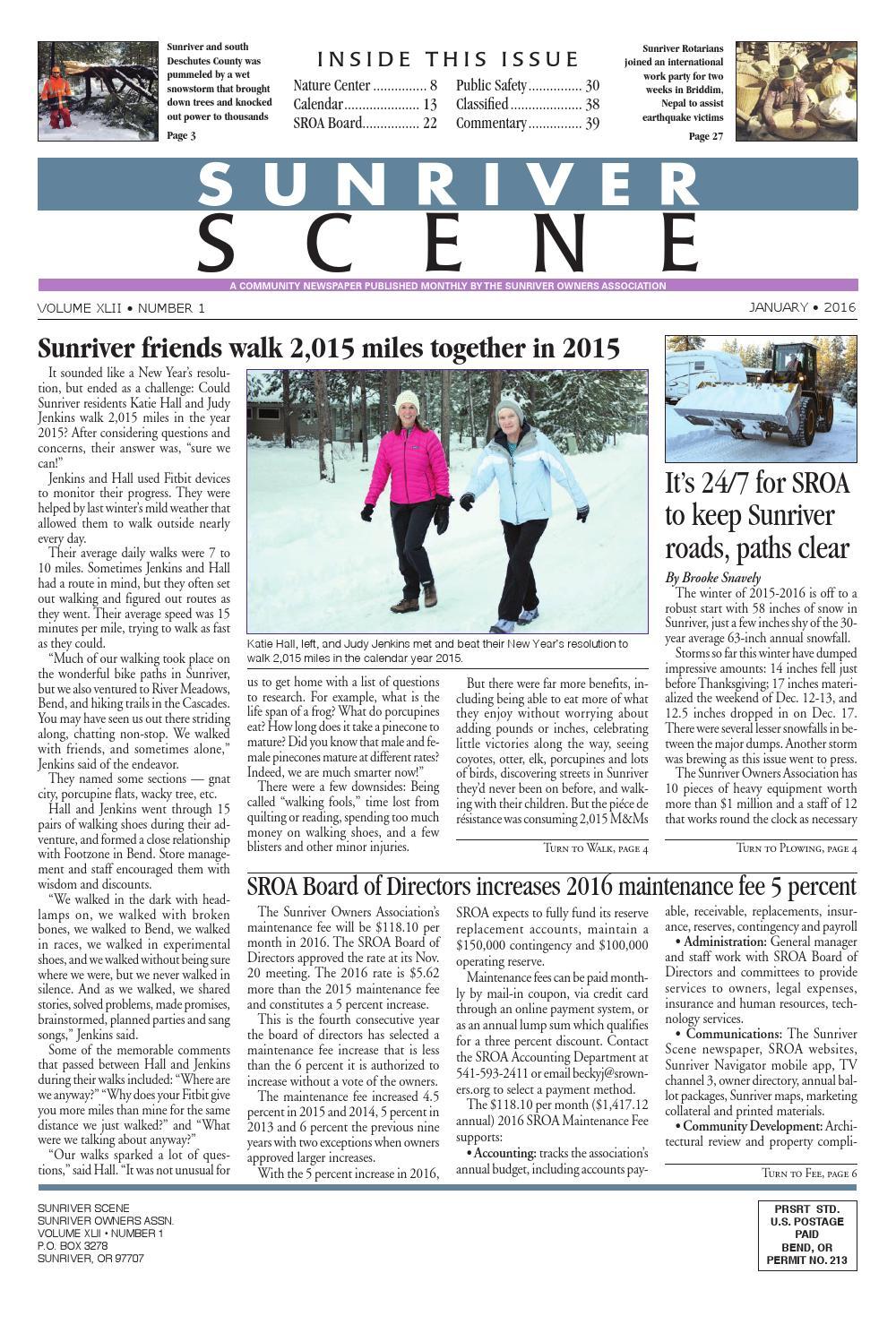 151236f1e4fb January 2016 Sunriver Scene by Sunriver Scene - issuu