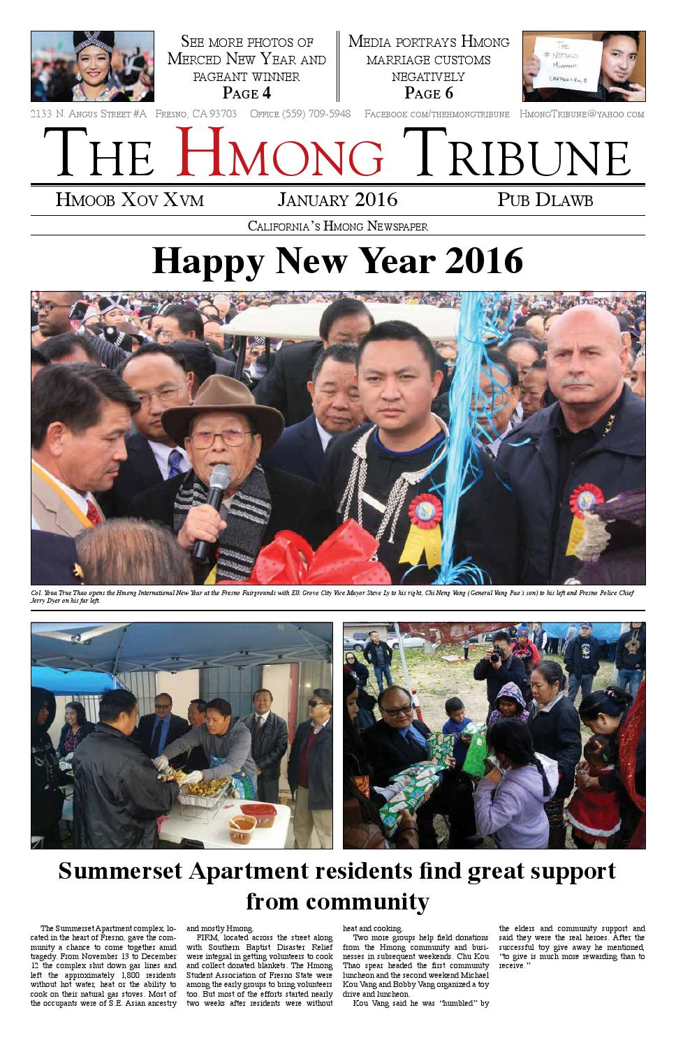 Hmong Tribune January 2016 by Hmong Tribune - issuu