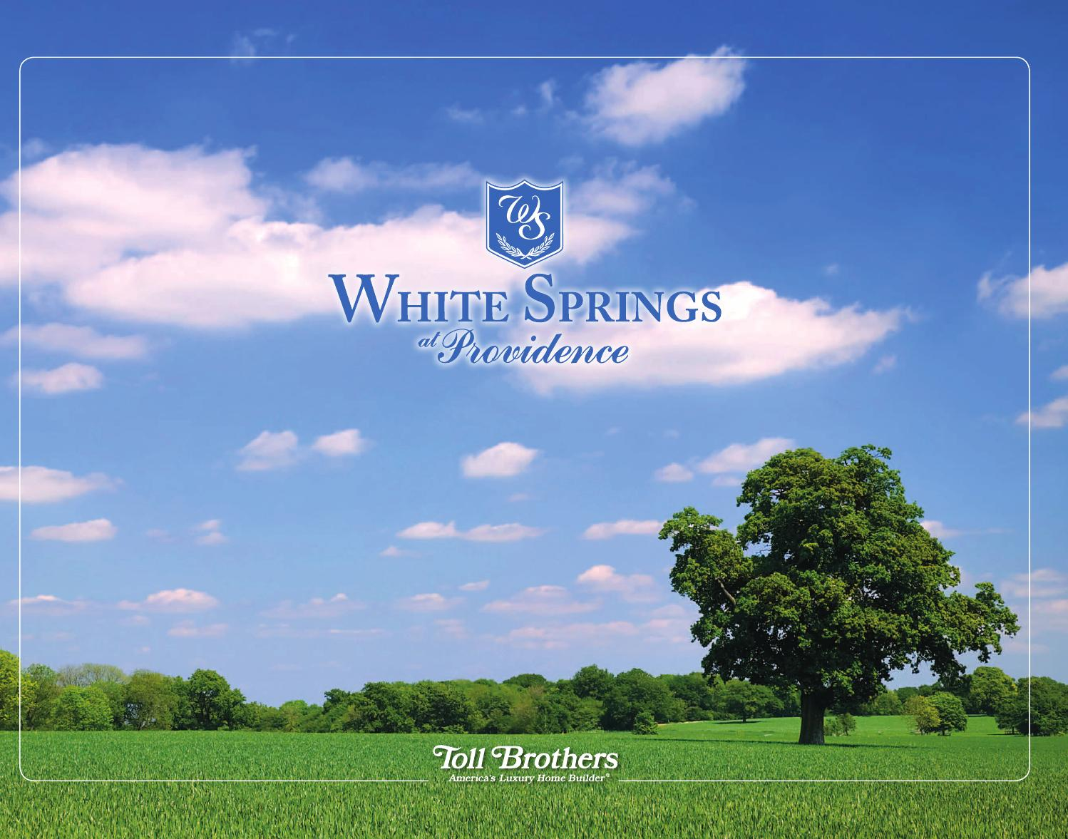 White Springs At Providence >> White Springs At Providence Lifestyle Brochure By Toll