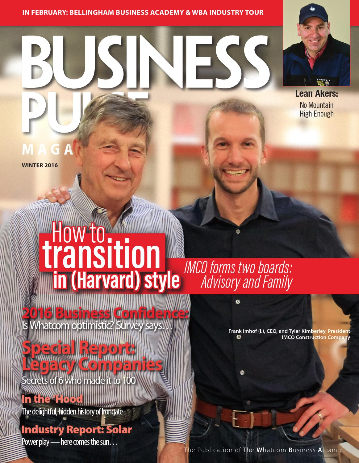 Business Pulse Magazine Winter 2016 By