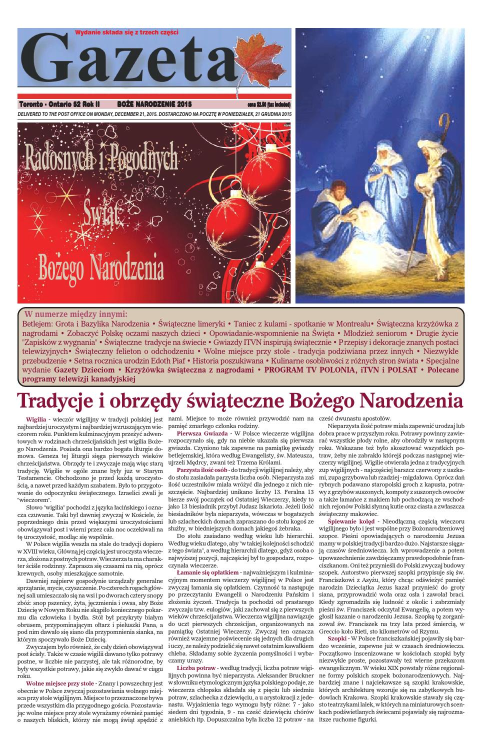 Gazeta 2015 Xmas By Gazetagazetacom Issuu