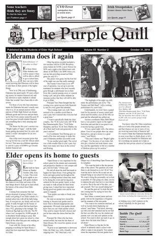 Issueoct14worke by Elder High School Purple Quill - issuu