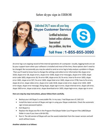 Solve skype sign in error @ 1 855 855 3090