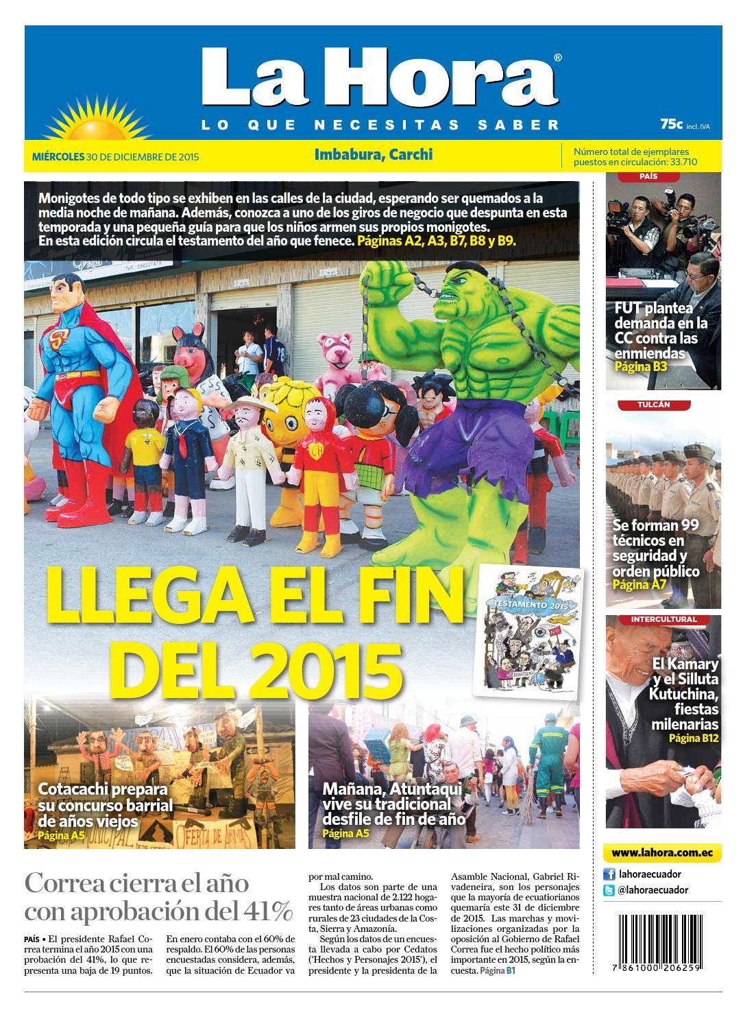 Imbabura 30 diciembre 2015 by Diario La Hora Ecuador - issuu
