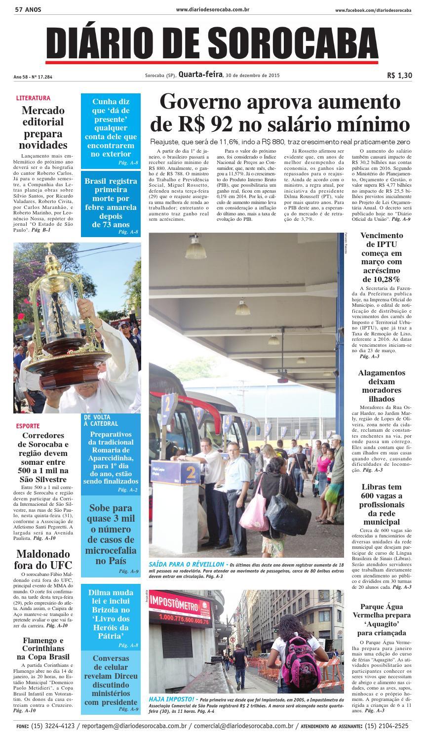 86b79a6abfc2c Edição de 30 de dezembro de 2015 by DIÁRIO DE SOROCABA - issuu