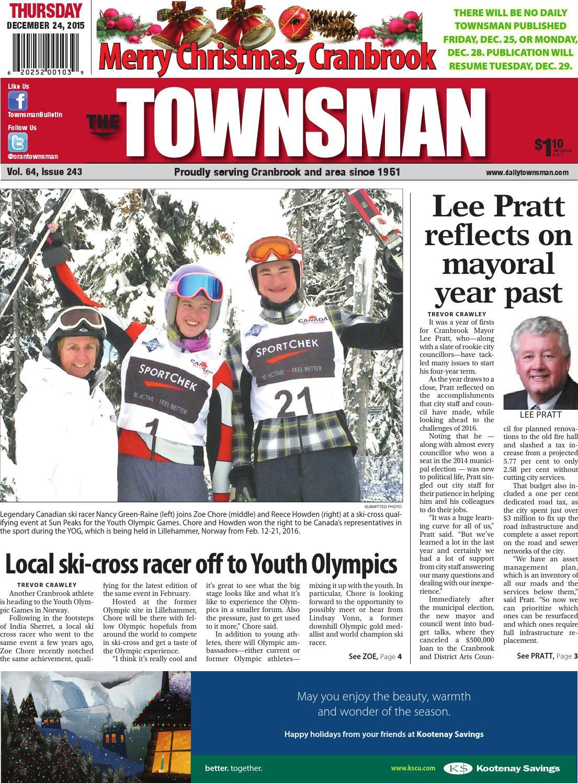 Cranbrook Daily Townsman, December 24, 2015 by Black Press - issuu